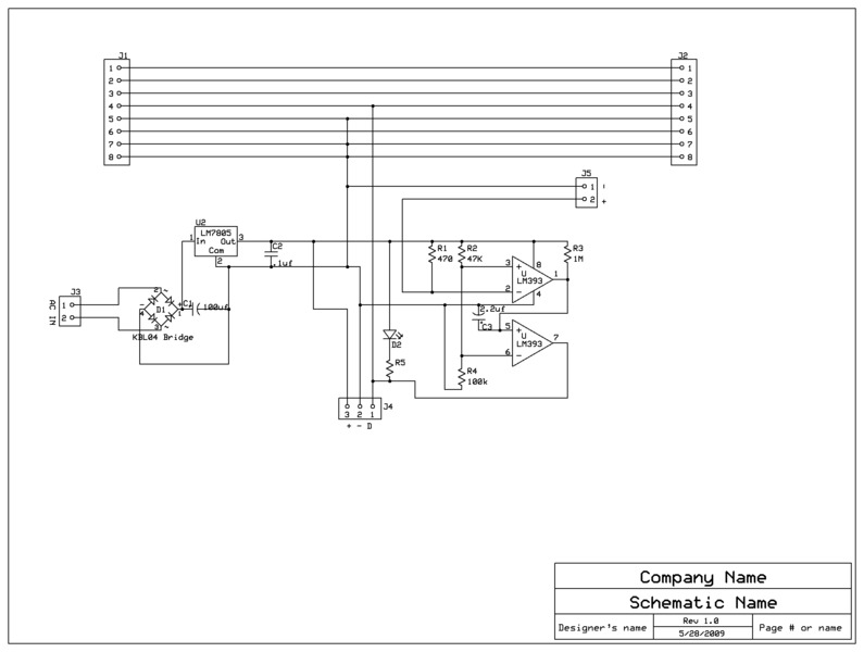 modular signal system implementation the circuit diagram for a detection module